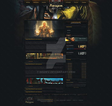 Paragon World of Warcraft (PSD Website Design) by InsDev