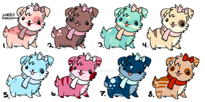 Canine Adoptables (Open) by Shinahin