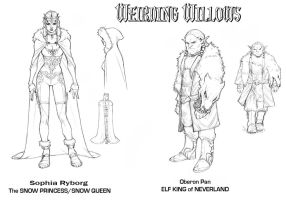 Weirding Willows New Characters for Volume 2 by DeevElliott