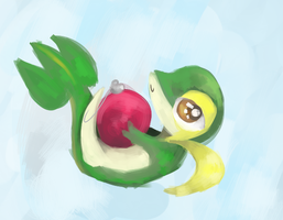 a snivy i guess by RascalWabbit