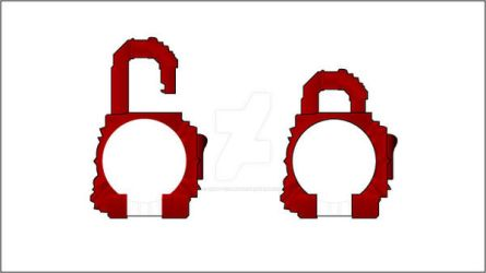 Red Energy Lockseed Template by Gray-Vizard