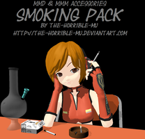 [MMD + M3 Accessory] Smoking Pack + DL by The-Horrible-Mu