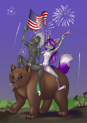 Commission: Time for Naked Celebration by Mancoin