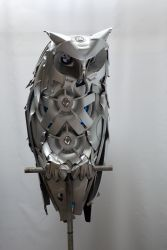 Horned Owl by HubcapCreatures