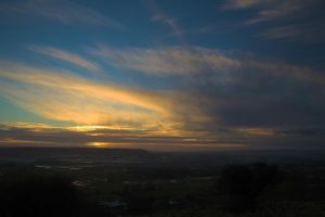 Sunset over the Levels 5 by SomersetCider