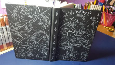 Sketchbook Cover Art by CrystalMelody-FT