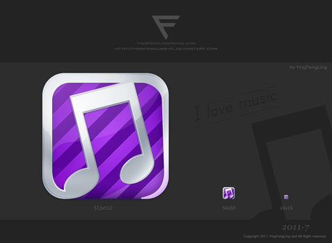 Icon:I love music by yingfengling-FL