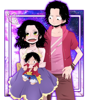 Hatomi's and Ace's children by HatoChan19