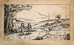 Hobbits leaving home by erzsebet-beast