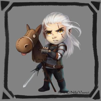 Geralt of Rivia the White Wolf by NikiVaszi
