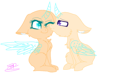 Mlp Base Chibi Pony Kiss by DashkaTortik12222222