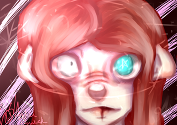 A face and some lights by illogicalgummybears