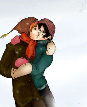 HP: ron x harry by cyllaniel