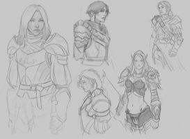Armor Sketching by Warmics