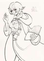 Inktober day 4: Spell by louverusee