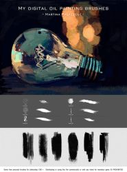 My digital oil painting brushes by MartinaPalazzese