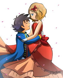 Pokemon- Amourshipping by PhoenixGoldenSilver