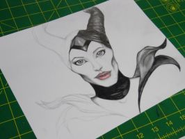 Sketch practice 40 - Maleficent by justthebutts