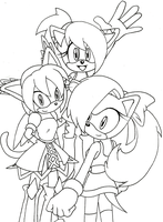 Angel, Honey and Tiara by Sonicguru
