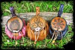 Norse and Pictish Pouches by Half-Goat