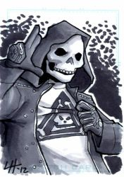 Beatrix Skullo Sketchcard by stratosmacca