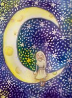 The moon by cattyinlove