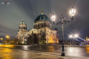 Berlin - Dom at Night by kruemel-sangerhausen