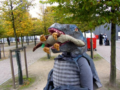 Raptor snack by NightingaleCosplay