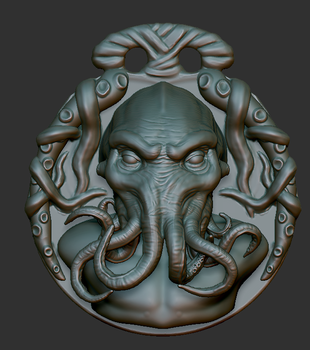 Cthulhu medallion wip by FredrikH