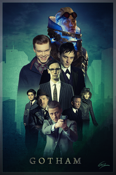 Gotham Poster Poster by PZNS