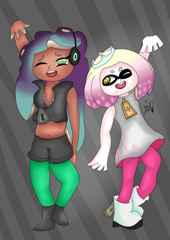 Pearl and Marina  by SirQueso