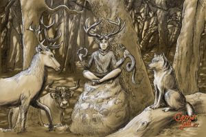 Cernunnos by ChemaIllustration