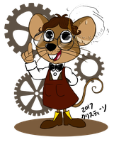 Rankin-Bass Challenge: Father Mouse by Madame-Kikue