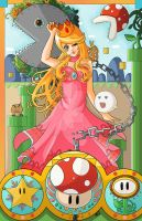 Art Nouveau Princess Peach by Forever-Nocturne