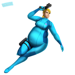 Samus Aran (Metroid) #digitalCurves by xmasterdavid