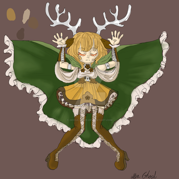 Canela The Deer Deity by Ultra-ghoul