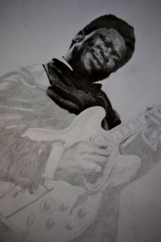 Bb king work in progress by oilbigbrozer