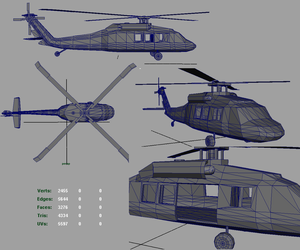 3D BlackHawk Helicopter by CrimsonStrife
