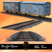 Hobo Train and Tracks by CntryGurl-Designs