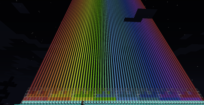 Minecraft: Rainbow of beacons by Tape-City