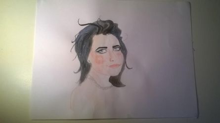 Estela. watercolor sketch by Jim-From-Hell