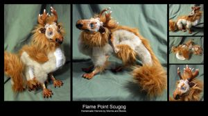 Flame Point Scugog Dragon by WormsandBones