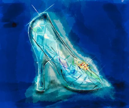 Cinderellas crystal glass slipper by KateHodges