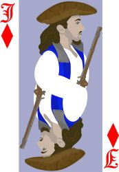 Portrait Playing Card by Adanzo