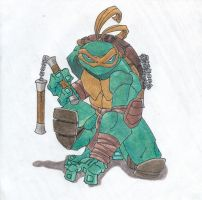 Michelangelo by Goldenjellybean