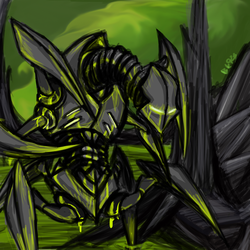 phyrexian inspired doodle by Bloodkiaser923