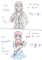 Thief VS Yandere by ShadowHeartbreaker