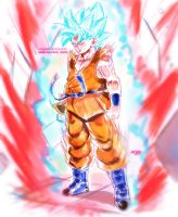 Goku super saiyan blue kaio ken by Mark-Clark-II
