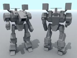 LowPoly: GX-005 Guardian by AceDarkfire