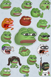 Pepe Stickers by aquaticmine